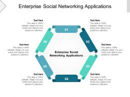 Enterprise Social Networking Applications Ppt Powerpoint Presentation Show Master Slide Cpb
