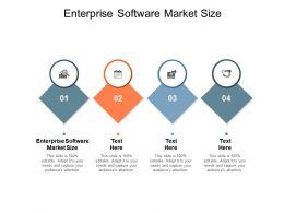 Enterprise Software Market Size Ppt Powerpoint Presentation Infographics Themes Cpb