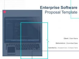Enterprise Software Proposal Template Powerpoint Presentation Slides