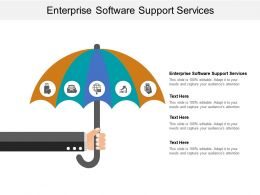 Enterprise Software Support Services Ppt Powerpoint Presentation Inspiration Cpb