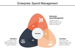 Enterprise Spend Management Ppt Powerpoint Presentation Gallery Icons Cpb