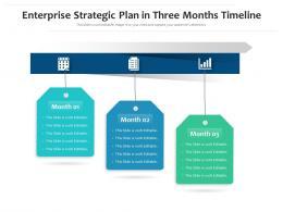 Enterprise Strategic Plan In Three Months Timeline Powerpoint Template