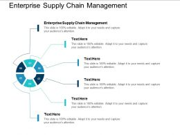 Enterprise Supply Chain Management Ppt Powerpoint Presentation Layouts Demonstration Cpb