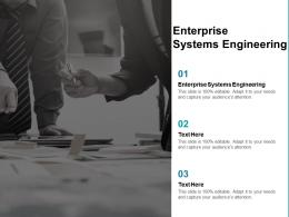 Enterprise Systems Engineering Ppt Powerpoint Presentation Model Example Cpb