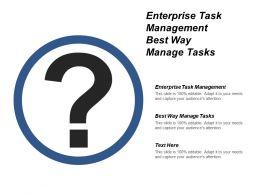 Enterprise Task Management Best Way Manage Tasks Cpb