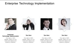 Enterprise Technology Implementation Ppt Powerpoint Presentation Gallery Introduction Cpb