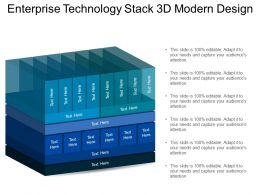 Enterprise Technology Stack 3d Modern Design