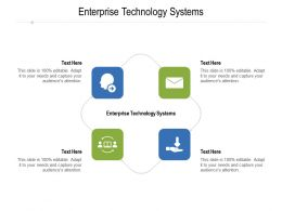 Enterprise Technology Systems Ppt Powerpoint Presentation Clipart Cpb