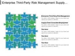 Enterprise Third Party Risk Management Supply Chain Consultant Employment Cpb