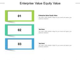 Enterprise Value Equity Value Ppt Powerpoint Presentation Summary Background Cpb