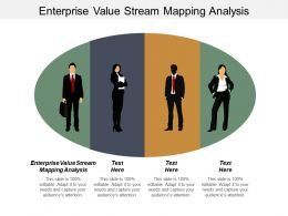 Enterprise Value Stream Mapping Analysis Ppt Powerpoint Presentation Infographic Template Diagrams Cpb