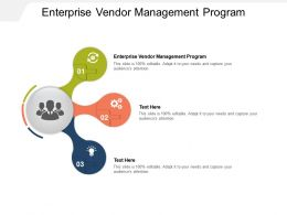 Enterprise Vendor Management Program Ppt Powerpoint Presentation Model Sample Cpb