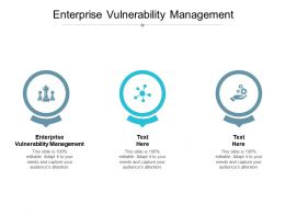 Enterprise Vulnerability Management Ppt Powerpoint Presentation Gallery Cpb