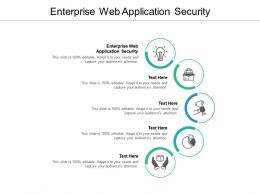 Enterprise Web Application Security Ppt Powerpoint Presentation Pictures Graphics Cpb