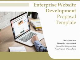 Enterprise Website Development Proposal Template Powerpoint Presentation Slides