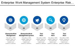 Enterprise Work Management System Enterprise Risk Management Quantifiable Risk Cpb