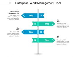 Enterprise Work Management Tool Ppt Powerpoint Presentation Infographics Slideshow Cpb