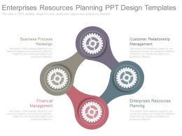 Enterprises Resources Planning Ppt Design Templates