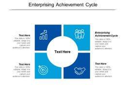 Enterprising Achievement Cycle Ppt Powerpoint Presentation Gallery Introduction Cpb