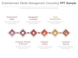 Entertainment Media Management Consulting Ppt Sample