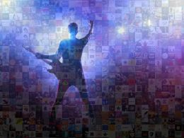 Entertainment Photo Mosaic Music Collage Ppt Design