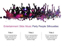 Entertainment Slide Music Party People Silhouettes Powerpoint Images
