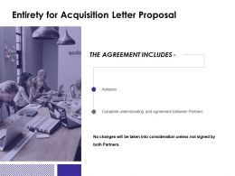 Entirety For Acquisition Letter Proposal Consideration Ppt Powerpoint Slides