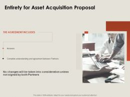 Entirety For Asset Acquisition Proposal Ppt Powerpoint Presentation Styles Graphics Pictures
