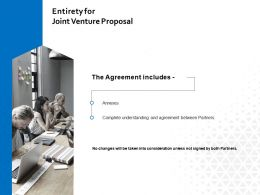 Entirety For Joint Venture Proposal Ppt Powerpoint Presentation Layouts