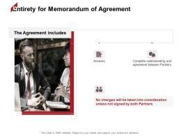 Entirety For Memorandum Of Agreement Partners Ppt Powerpoint Presentation Inspiration