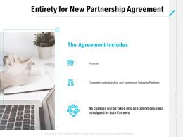 Entirety For New Partnership Agreement Ppt Powerpoint Presentation Styles