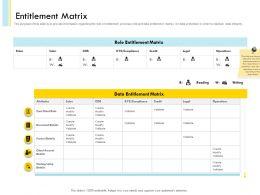 Entitlement Matrix Credit Details Powerpoint Presentation Pictures