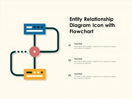 Entity Relationship Diagram Icon With Flowchart