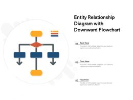 Entity Relationship Diagram With Downward Flowchart