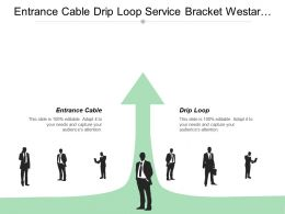 Entrance Cable Drip Loop Service Bracket Westar Energy