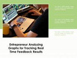 Entrepreneur Analyzing Graphs For Tracking Real Time Feedback Results