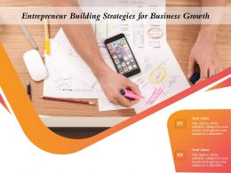 Entrepreneur Building Strategies For Business Growth