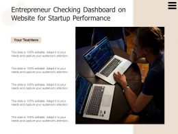Entrepreneur Checking Dashboard On Website For Startup Performance