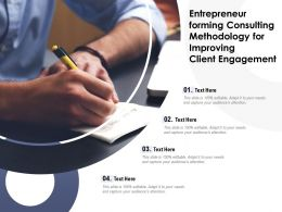 Entrepreneur Forming Consulting Methodology For Improving Client Engagement