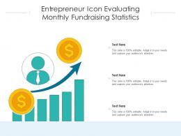 Entrepreneur Icon Evaluating Monthly Fundraising Statistics