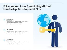 Entrepreneur Icon Formulating Global Leadership Development Plan