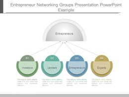 Entrepreneur Networking Groups Presentation Powerpoint Example