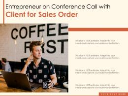 Entrepreneur On Conference Call With Client For Sales Order