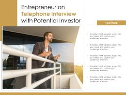 Entrepreneur On Telephone Interview With Potential Investor