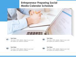 Entrepreneur Preparing Social Media Calendar Schedule
