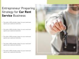 Entrepreneur Preparing Strategy For Car Rent Service Business