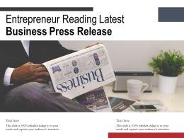 Entrepreneur Reading Latest Business Press Release