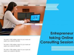 Entrepreneur Taking Online Consulting Session