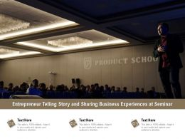 Entrepreneur Telling Story And Sharing Business Experiences At Seminar