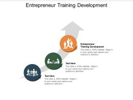 Entrepreneur Training Development Ppt Powerpoint Presentation Professional Portfolio Cpb